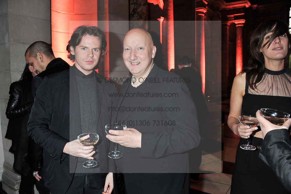 Left to right, CHRISTOPHER KANE and STEPHEN JONES at a private view of Ballgowns: British Glamour Since 1950 at the V&A museum, London on 15th May 2012.