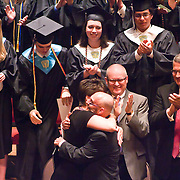060311 Wilmington DE: Cab Calloway Dean Juile A. Rumschlag hugs Honorary Diploma recipient Joseph Masiello during award segment at Cab Calloway commencement exercise Friday, June 3, 2011 at The Grand Opera House In Wilmington rDelaware...Special to The News Journal/SAQUAN STIMPSON