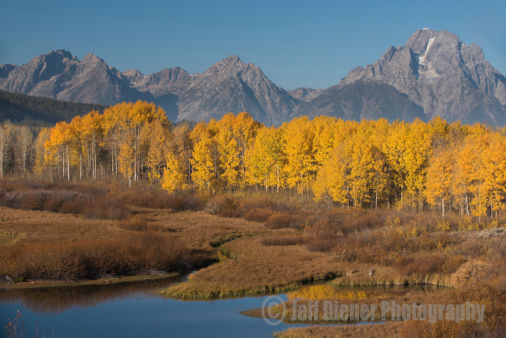 Oxbow Bend and the Teton Range in Grand Teton National Park, Jackson Hole, Wyoming