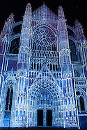 """La Cathédrale Infinie"" spectacle in the cathedral of Beaubais, Oise, Picardie, France"