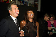 MARIO TESTINO AND NAOMI CAMPBELL, Vanity Fair Portraits: Photographs 1913-2008. Hosted by Burberry and Vanity Fair. National Portrait Gallery. London. 9 February 2008.  *** Local Caption *** -DO NOT ARCHIVE-© Copyright Photograph by Dafydd Jones. 248 Clapham Rd. London SW9 0PZ. Tel 0207 820 0771. www.dafjones.com.