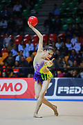 Milena Baldassarri atleta della società Raffaello Motto di Viareggio durante la seconda prova del Campionato Italiano di Ginnastica Ritmica.<br /> La gara si è svolta a Desio il 31 ottobre 2015.