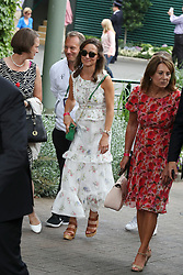 Pippa and Carole Middleton at The All England Club<br /><br />16 July 2017.<br /><br />Please byline: Vantagenews.com