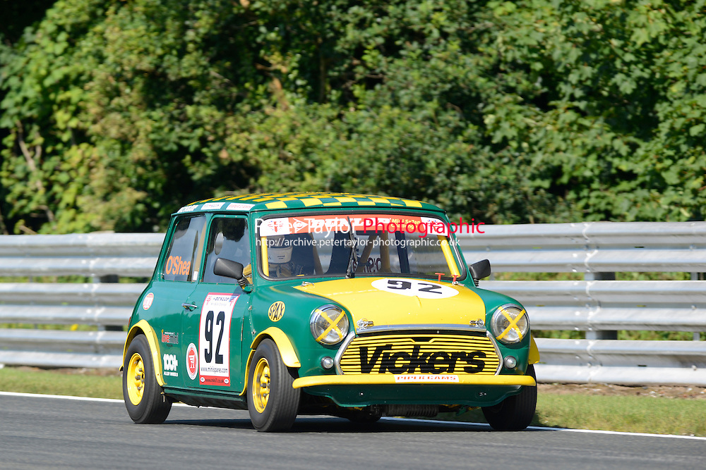 #92 Kevin O'Shea Mini 7 S Class during Mini Se7en - Qualifying as part of the Mini Festival  at Oulton Park, Little Budworth, Cheshire, United Kingdom. August 08 2015. World Copyright Peter Taylor. Copy of publication required for printed pictures.  Every used picture is fee-liable. http://archive.petertaylor-photographic.co.uk