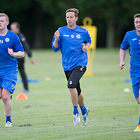 St Johnstone Pre-Season Training...07.07.14<br /> Brian Easton, Steven MacLean and Tam Scobbie during a running exercise<br /> Picture by Graeme Hart.<br /> Copyright Perthshire Picture Agency<br /> Tel: 01738 623350  Mobile: 07990 594431