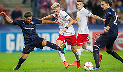 19.08.2014, Red Bull Arena, Salzburg, AUT, UEFA CL, FC Red Bull Salzburg vs Malmö FF, Play Off, Hinspiel, im Bild v.l.: Ricardinho (Malmoe FF), Kevin Kampl (FC Red Bull Salzburg), Erik Johansson (Malmoe FF) // during the UEFA Championsleague 1st Leg, Play Off Match between FC Red Bull Salzburg and Malmoe FF at the Red Bull Arena in Salzburg, Austria on 2014/08/19. EXPA Pictures © 2014, PhotoCredit: EXPA/ JFK