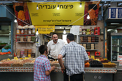 Machane Yehuda market in Jewish west Jerusalem. From a series of travel photos taken in Jerusalem and nearby areas. Photo date: Monday, July 30, 2018. Photo credit should read: Richard Gray/EMPICS