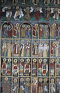 Romania. sucevita  monatery. orthodox monastery, paintings  sucevita       / monastere orthodoxe peint   sucevita  Roumanie