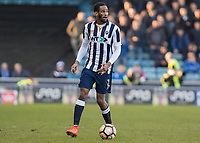 Football - 2016 / 2017 FA Cup - Fifth Round: Millwall vs. Leicester City <br /> <br /> Shaun Cummings of Millwall at The Den<br /> <br /> COLORSPORT/DANIEL BEARHAM