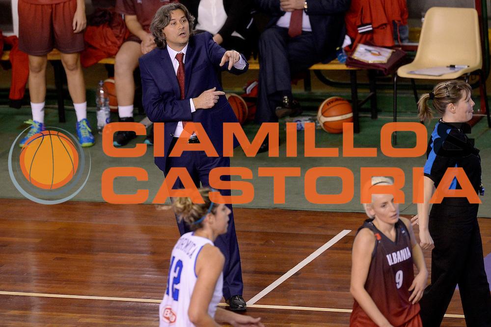 DESCRIZIONE : Lucca Nazionale Italia Femminile Qualificazione Europeo Femminile Italia Albania Italy Albania<br /> GIOCATORE : Erdal Borova<br /> CATEGORIA : allenatore<br /> SQUADRA : Albania Albania<br /> EVENTO : Qualificazione Europeo Femminile<br /> GARA : Italia Albania Italy Albania<br /> DATA : 21/11/2015 <br /> SPORT : Pallacanestro<br /> AUTORE : Agenzia Ciamillo-Castoria/Max.Ceretti<br /> Galleria : FIP Nazionali 2015<br /> Fotonotizia : Lucca Nazionale Italia Femminile Qualificazione Europeo Femminile Italia Albania Italy Albania