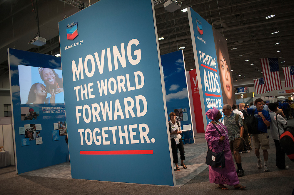Chevron booth at the 2012 International AIDS Conference in Washington, D.C.