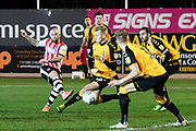 Nicky Law (8) of Exeter City shoots at goal during the EFL Sky Bet League 2 match between Exeter City and Cambridge United at St James' Park, Exeter, England on 11 January 2020.
