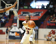 """Ole Miss's Valencia McFarland (3) vs. North Florida at the C.M. """"Tad"""" Smith Coliseum in Oxford, Miss. on Friday, November 11, 2011."""
