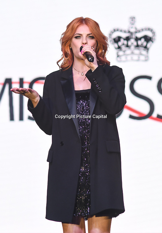 Anastasiya Stotskaya performs at the Grand Final MISS USSR UK 2019 at Hilton hotel London on 27 April 2019, London, UK.