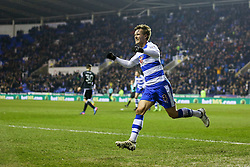 Goal, John Swift of Reading scores, Reading 1-0 Brentford - Mandatory by-line: Jason Brown/JMP - 14/02/2017 - FOOTBALL - Madejski Stadium - Reading, England - Reading v Brentford - Sky Bet Championship