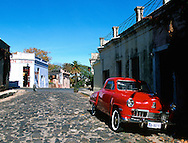 An old/vintage car on the streets of Colonia, Uruguay.  ©2003 Brett Wilhelm/Brett Wilhelm Photography | www.brettwilhelm.com