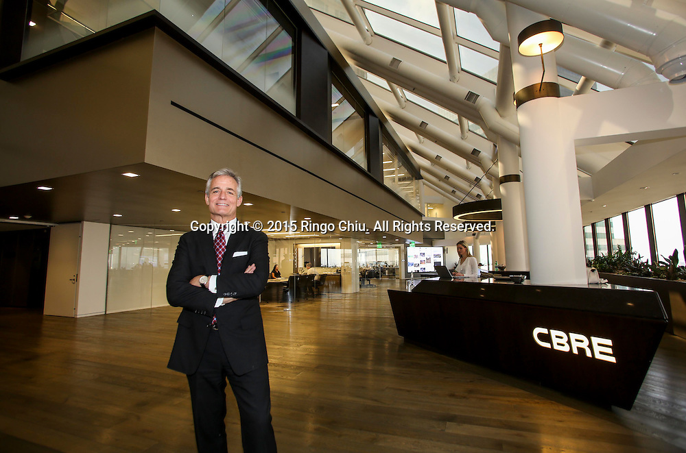 Lew Horne, President of the Los Angeles Office of CBRE at the CBRE office.(Photo by Ringo Chiu/PHOTOFORMULA.com)<br /> Usage Notes: This content is intended for editorial use only. For other uses, additional clearances may be required.