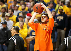 Dec 5, 2017; Morgantown, WV, USA; Virginia Cavaliers guard Ty Jerome (11) warms up before their game against the West Virginia Mountaineers at WVU Coliseum. Mandatory Credit: Ben Queen-USA TODAY Sports