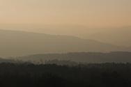 Late afternoon receding hillsides Totley Moor Edge, nr White Edge & Fox House, Peak District National Park