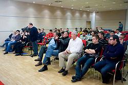 """na okrogli mizi na temo """"Slovenska kosarka - le kos do svetovnega vrha?"""" v organizaciji SportForum Slovenija, 19. oktober 2009, Austria Trend Hotel, Ljubljana, Slovenija. (Photo by Vid Ponikvar / Sportida)"""