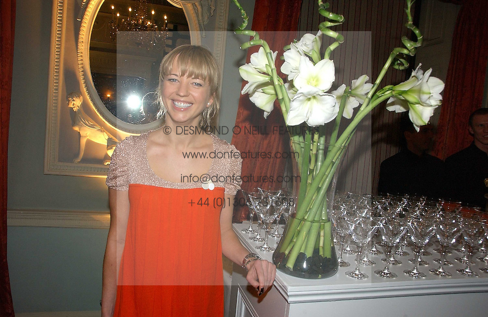 DJ SARA COX at a party hosted by Westfield and the British Fashion Council to celebrate Fashion Forward held at Home House, 20 Portman Square, London W1 on 30th January 2007.<br /><br />NON EXCLUSIVE - WORLD RIGHTS