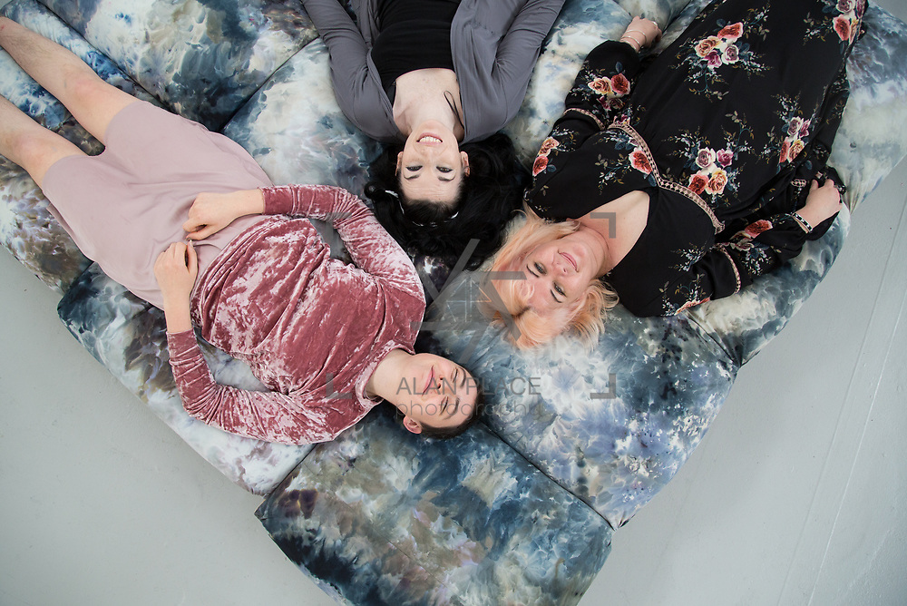 31.05.2017      <br /> Limerick School of Art and Design, LSAD Graduate Show Feature.<br /> Pictured are Aideen Barry, Tracy Fahy and Isolde Donohue. Picture: Alan Place.