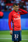 Daniel Alves da Silva (PSG) at warm up during the French championship L1 football match between Paris Saint-Germain (PSG) and Toulouse Football Club, on August 20, 2017, at Parc des Princes, in Paris, France - Photo Stephane Allaman / ProSportsImages / DPPI