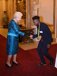 October 18, 2016 - London, United Kingdom - UK OUT Image licensed to i-Images Picture Agency. 18/10/2016. London, United Kingdom. The Queen with boxer Nicola Adams at a reception for Team GB and ParalympicsGB medallists from the 2016 Olympic and Paralympic Games at Buckingham Palace in London. Picture by ROTA / i-Images  UK OUT (Credit Image: © Rota/i-Images via ZUMA Wire)