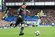 Arsenal defender Hector Bellerin (24) during the Premier League match between Everton and Arsenal at Goodison Park, Liverpool, England on 22 October 2017. Photo by Craig Galloway.