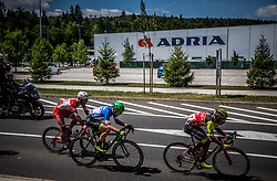Davide Ballerini (ITA) of Androni-Sidermec-Bottecchia,  Jaka Primozic (SLO) of Slovenija National Team and Daniel Felipe Martinez (COL) of Wilier Triestina-Selle Italia during last Stage 4 of 24th Tour of Slovenia 2017 / Tour de Slovenie from Rogaska Slatina to Novo mesto (158,2 km) cycling race on June 18, 2017 in Slovenia. Photo by Vid Ponikvar / Sportida