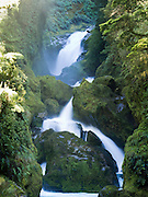 View of Mackay Falls along the Milford Track, Fiordland National Park, New Zealand