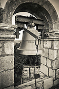 The bell tower at the Church of the Holy Spirit, Sipan Island, Dalmatian Coast, Croatia