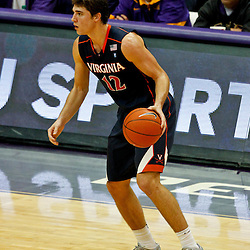 January 2, 2012; Baton Rouge, LA; Virginia Cavaliers guard Joe Harris (12) against the LSU Tigers during the second half of a game at the Pete Maravich Assembly Center. Virginia defeated LSU 57-52.  Mandatory Credit: Derick E. Hingle-US PRESSWIRE