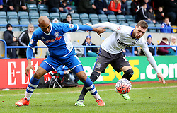 Calvin Andrew of Rochdale in action - Mandatory byline: Matt McNulty/JMP - 06/12/2015 - Football - Spotland Stadium - Rochdale, England - Rochdale v Bury - FA Cup