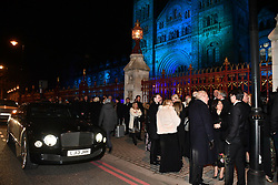 © Licensed to London News Pictures. 07/02/2018. London, UK. Arrivals at the Natural History Museum in London for the annual Black and White Ball, a fundraiser held by the Conservative Party. Photo credit: Ben Cawthra/LNP