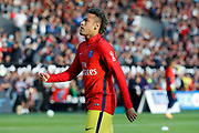 Neymar da Silva Santos Junior - Neymar Jr (PSG) at warm up during the French championship L1 football match between EA Guingamp v Paris Saint-Germain, on August 13, 2017 at the Roudourou stadium in Guingamp, France - Photo Stephane Allaman / ProSportsImages / DPPI