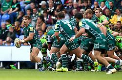 Alex Lewington of London Irish runs with the ball - Mandatory by-line: Robbie Stephenson/JMP - 24/09/2017 - RUGBY - Madejski Stadium - Reading, England - London Irish v Northampton Saints - Aviva Premiership