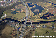aerial photograph of Preston showing the M6 motorway and River Ribble