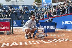 April 29, 2018 - Barcelona, Barcelona, Spain - RAFAEL NADAL celebrates his 11th victory at the Barcelona Open Banc Sabadell 2018. RAFAEL NADAL won the final 6-2 6-1 against STEFANOS TSITSIPAS. (Credit Image: © Patricia Rodrigues/via ZUMA Wire via ZUMA Wire)