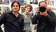 Sam Portera, Michelle Wuttke, and Thom Bennett; Push Pin show opening reception at New Orleans Photo Alliance gallery