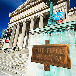 Photo of The Field Museum sign in Chicago Illinois. The Field Museum is one of the top things to do in Chicago and is on of the most popular Chicago museums.
