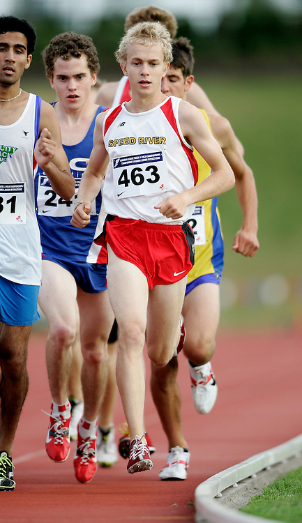 Abbotsford, British Columbia ---25/07/08---Robert Jackson competes in the 1500 metre heats at the 2008 Canadian Junior Track and Field Championships in Abbotsford, British Columbia..GEOFF ROBINS Mundo Sport Images