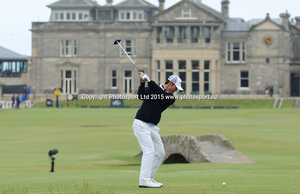 New Zealand's Danny Lee during the first round of the 144th Open Championship at The Old Course on July 16, 2015 in St Andrews, Fife.<br />