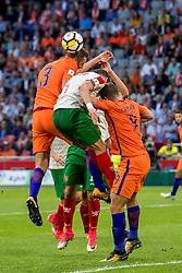 03-09-2017 NED: WK Kwalificatie Nederland - Bulgarije, Amsterdam<br /> Het Nederlands elftal heeft de hoop op deelname aan het WK van volgend jaar in Rusland levend gehouden. Na het echec van Parijs greep Oranje tegen Bulgarije in Amsterdam de laatste strohalm: 3-1 / Stefan de Vrij #3, Vincent Janssen #9