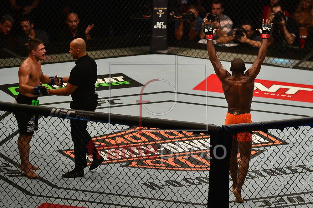 durante luta válida pelo UFC FIGHT NIGHT:  MAIA X LAFLARE, realizado no ginásio do Maracanazinho, zona norte da cidade do Rio de Janeiro, RJ. Foto: Fernando Monteiro/Frame
