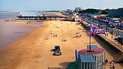 Aerial, view, Cleethorpes Beach,