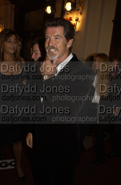 Pierce Brosnan. GQ Men Of The Year Awards at the Royal Opera House, London. September 6, 2005 in London, England, ONE TIME USE ONLY - DO NOT ARCHIVE  © Copyright Photograph by Dafydd Jones 66 Stockwell Park Rd. London SW9 0DA Tel 020 7733 0108 www.dafjones.com