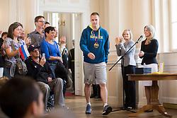 """Klemen Prepelic during award ceremony """"Zlati red za zasluge"""" for Basketball association of Slovenia on the day of statehood in the presidential palace, on June 25, 2018 in Ljubljana, Slovenia. Photo by Urban Urbanc / Sportida"""