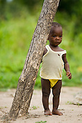 Young child in a rural area near Kpong, Ghana on Wednesday June 17, 2009.