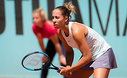 May 5, 2019 - Madrid, MADRID, SPAIN - Madison Keys of the United States in action during her first-round match at the 2019 Mutua Madrid Open WTA Premier Mandatory tennis tournament (Credit Image: © AFP7 via ZUMA Wire)